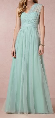 mint tulle dress