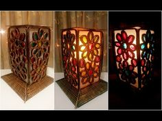 Newspaper Lantern craft || DIY newspaper lantern for Diwali home decor - YouTube