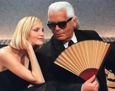 Model Nadja Auermann and Fashion Designer Karl Lagerfeld (December 13, 1997) Since the 1990s, German models have been increasingly successful in establishing themselves on the international fashion scene. Nadja Auermann, shown here with German fashion designer Karl Lagerfeld, is one of several German supermodels who made an international career for herself – the list also includes Claudia Schiffer, Tatjana Patitz, and more recently Heidi Klum. Lagerfeld, who has lived in France since the…