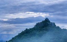 Castle of Salgo in mist