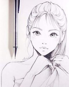 drawing of a girl drawing of a girl ; drawing of flowers ; drawing of eyes ; drawing of lips ; drawing of hands ; drawing of people ; drawing of a boy ; drawing of love Manga Drawing, Drawing Sketches, Pencil Drawings, Drawing Tips, Drawing Faces, Hair Drawings, Learn Drawing, Girl Hair Drawing, Drawing Ideas