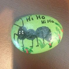 Placed this rock at San Jose airport!! #ant #sanjose #spreadartproject #paintedrocks #green #nature