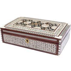 John Robshaw Textiles - Syrian Wooden Inlay Treasure Box - Accessories - souk
