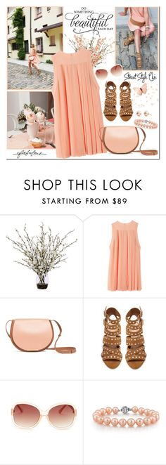 """Summer Pleated Dress"" by brendariley-1 ❤ liked on Polyvore featuring Keen Footwear, Lux-Art Silks, Stella & Dot and M Missoni"