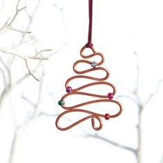 This pretty copper wire Christmas ornament makes the perfect gift - or decoration for your own tree.