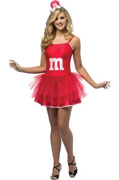 Red M&M costume for teens and adults