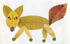 Fall leaf animals - and 20 other fall crafts