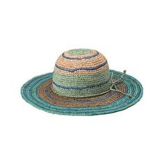 Women's Peter Grimm Rio - Teal Sun Hats (58 CAD) ❤ liked on Polyvore featuring accessories, hats, turquoise, block hats, straw sunhat, travel sun hat, straw sun hat and teal hat