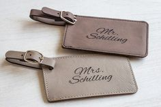 Shop now our Mr & Mrs luggage tags for a unique, personalized wedding gift…