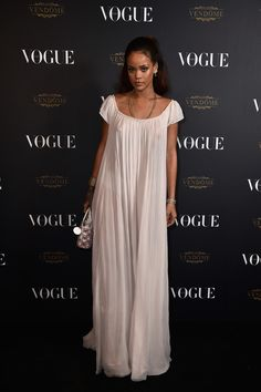 Rihanna in Dior Fall 2015 Couture attends the Vogue Paris 95th Anniversary Party on October 3, 2015 #PFW