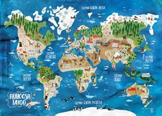 """Consulta este proyecto @Behance: """"Illustrated Map of the world"""" https://www.behance.net/gallery/34844553/Illustrated-Map-of-the-world"""