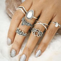 Gift Shiny Stylish New Arrival Jewelry Hot Sale Hollow Out Floral Geometric Accessory Ring [11604666703]