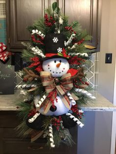 Snowman Wreath, Christmas wreath, Christmas Door wreath, Door Decor, christmas Decor About may slightly change with availability. Christmas Door Wreaths, Indoor Christmas Decorations, Christmas Arrangements, Christmas Swags, Christmas Centerpieces, Holiday Wreaths, Rustic Christmas, Christmas Fun, Christmas Greenery