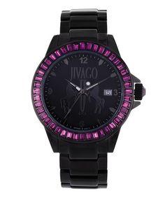 Another great find on #zulily! Black & Purple Folie Watch by Jivago #zulilyfinds $149.99