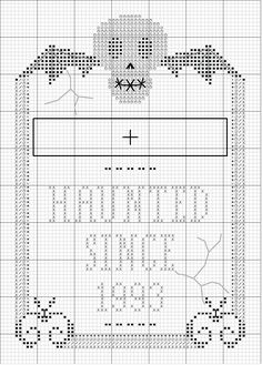 Add in Townley. Adorable Halloween cross stitch!