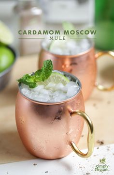 Try this delicious twist on the classic Moscow Mule recipe. | via Simply Organic