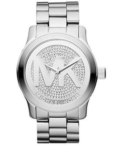 Michael Kors Watch, Women's Runway Stainless Steel Bracelet
