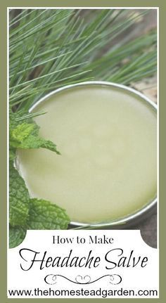 Learn how to make a headache salve. With just a few ingredients, you can make a salve that might help ease your headache problems. Combine with other natural remedies, and perhaps your headache will be a thing of the past. Natural Home Remedies, Natural Healing, Herbal Remedies, Health Remedies, Holistic Healing, Natural Oil, Holistic Remedies, Cold Remedies, Natural Remedies For Headaches