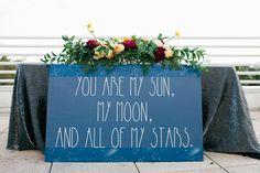 stargazer themed wedding inspiration - photo by Amanda Lenhardt http://ruffledblog.com/starburst-themed-wedding-inspiration #weddingideas #signs #signage