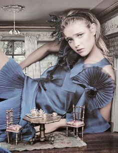 Alice in Wonderland / karen cox.  Natalia Vodianova as Alice in Wonderland