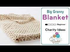 How To Crochet A Blanket: Big Granny Square - YouTube