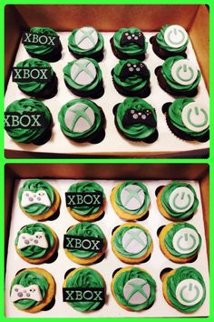 You will enjoy this site! Kid Cupcakes, Cupcake Party, Cupcake Cakes, Xbox Party, Game Truck Party, 10th Birthday Parties, Birthday Games, Birthday Ideas, Bolo Xbox