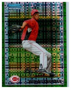 2010 Bowman Chrome Aroldis Chapman Green Refractor Rookie Card New York Yankees