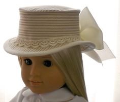 American Girl Doll Clothes - Doll Hat - Summer Riding Hat - 1800's