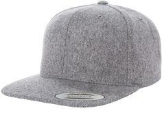 8c8286fda54 Melton Wool Snapback - Flexfit Yupoong Blank Hats