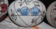 """Galet """"Love birds"""" for http://ift.tt/2gUqHTb"""