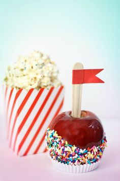 Classic Candied Apples and Popcorn Balls Heather does it Again ! #sprinklebakes