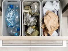 A built-in kitchen recycle bin, an optional solar system and an electric-vehicle charging system are some of the ways you can support an earth-friendly approach. Organization, Recycling, Cleaning Hacks, Cleaning Household, Recycling Bins, Organizing Your Home, Garbage Disposal, Household Waste, Household Cleaning Tips