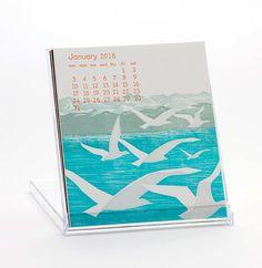 2016 Ilee Letterpress and Silkscreen Calendar by ilee on Etsy