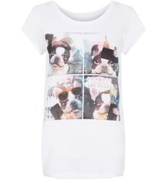 White Bulldog Selfie T-Shirt