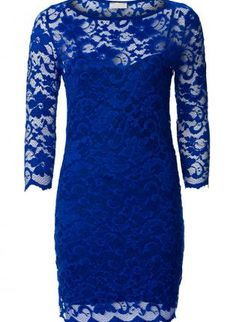 Blue Lace Dress with Sheer Lace Sleeves,  Dress, lace dress  sheer lace, Chic
