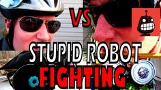 Stupid Robot Fighting League Leyt Dowman with El Minion vs Mike Barry and Suckalucka.