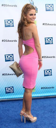 Maria Menounos pink dress booty