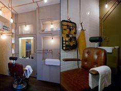 Barber shop by Ard Hoksbergen, Amsterdam store design