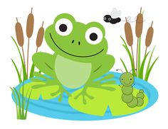 Frog Mural Wall Decals Baby Boy Girl Nursery Stickers Decor