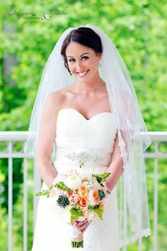 """A """"Classic Bride"""" on her wedding day."""