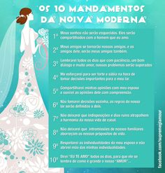 mandamentos da noiva