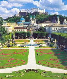 "JUST A BEAUTIFLUL GARDEN. Mirabell Gardens, Salzburg, Austria. Yes from ""Do Re Mi"" in the Sound of Music."