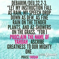 PROCLAIMING THE NAME ABOVE ALL NAMES #YAHUAH