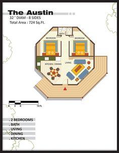 Hobbies For Older Men Code: 5930749545 Round House Plans, Little House Plans, Modern House Plans, Small House Plans, 2 Bedroom House Plans, Coastal House Plans, Cabin House Plans, House Floor Plans, Casa Octagonal
