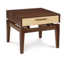 The SoHo nightstand by Copeland Furniture seeks to instill the feelings of comfort and clarity. Borrowing elements from the best of traditional and contemporary design, SoHo falls into a category of its own: Modern-Classic. Hardwood Furniture, Wooden Furniture, Furniture Projects, Furniture Plans, Furniture Decor, Living Room Furniture, Furniture Design, Antique Furniture, Outdoor Furniture