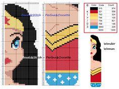 Wonder Woman scarf pattern