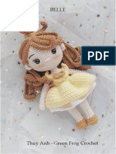 Doll Amigurumi Free Pattern, Crochet Dolls Free Patterns, Crochet Doll Pattern, Amigurumi Doll, Crochet Disney, Crochet Mushroom, Crochet Princess, Patron Crochet, Diy Crafts Crochet