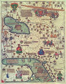 Mapa de Delli, en una còpia del segle XIX