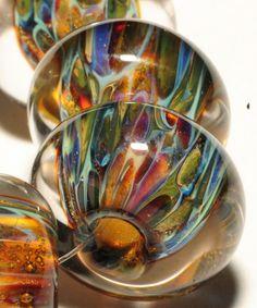Boro Beads Glass Lampwork Beads Lampwork Borosilicate Handmade By Brenda Scata set of  7 SERENGETI PLAINS. $21.00, via Etsy.
