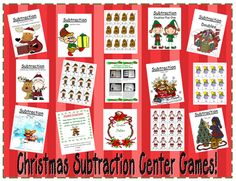 Fern Smith's Christmas Subtraction Center Games to Help with Common Core!